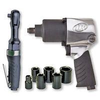 Impact Ratchet Wrench Power Tool Kit Socket Set Garage Car Vehicle Carry Case