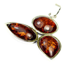 925 Sterling Silver & Baltic Amber Jewellery - PD1335 - Unique Pendant