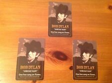 3 BOB DYLAN  SOMEDAY BABY FREE iTUNES DOWNLOAD CARD GIVEN AWAY AT HIS CONCERT