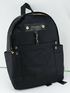 NEW AUTHENTIC MARC JACOBS PREPPY BLACK NYLON BACKPACK HANDBAG WOMEN'S M0012907