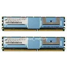 Micron  8GB 2X4GB PC2-5300F 667MH 240pin DDR2 ECC Buffered FB-DIMM SERVER RAM