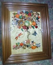 Jewelry Art, 4 Seasons, set of 4 Pieces of Jewelry Art, signed by Artist