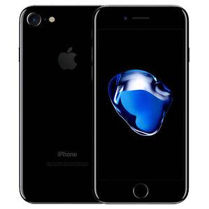 Apple iPhone 7 128GB 256GB Unlocked Jet Black iOS Smartphone 12.0 MP A1778 GSM