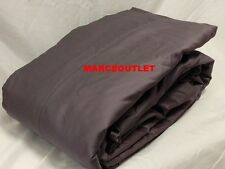 CHARTER CLUB 500 Thread Count Damask Solid KING Flat Sheet & Cases Slate