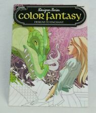 NEW DESIGNER SERIES COLOR FANTASY ADULT COLORING BOOK ART THERAPY