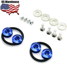Blue Quick Release Fasteners Car Bumpers Trunk Fender Hatch Lids Kit US STOCK