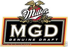 "2 Miller Genuine Draft MGD 14"" Cornhole Vinyl Decals Stickers Baggo Toss Beer"