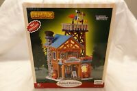 2005 Lemax Village Mountain Weather & Rescue Station Ceramic Christmas Decor