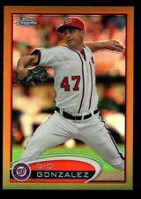 GIO GONZALEZ 43/50 MINT NATIONALS GOLD REFRACTOR #53 RARE SP 2012 TOPPS CHROME
