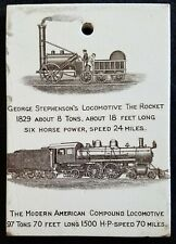 "1905 Wedgwood, Locomotive ""The Rocket"" Calendar Tile, Jones McDuffee Stratton"