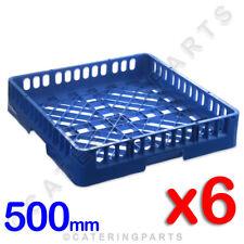 6 x BULK PACK SQUARE DISHWASHER GLASSWASHER OPEN CUP GLASS RACKS 500 x 500