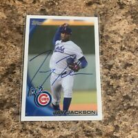 Jay Jackson Signed 2010 Topps Pro Debut Rc Auto Chicago Cubs Brewers