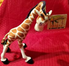 "Dreamworks SnapCM Madagascar MELMAN THE GIRAFFE 16"" Plush Stuffed Toy 2005 NWT"