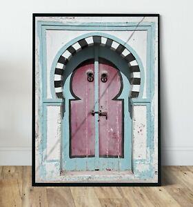 Princess Doorway print, Morocco Wall Art Print, Canvas A4,A3,A2,A1,A0, On trend