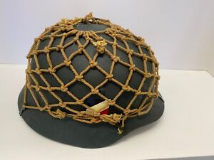 WWII German Helmet Foliage Net