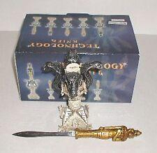 (1) EGYPTIAN GOD ~ HORUS ~ LETTER OPENER /SWORD On Cobra Snake / Serpent Stand