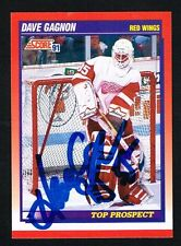 Dave Gagnon #277 signed autograph 1991-92 Score Hockey Canadian Release Card