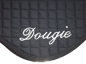 Personalised Embroidered Saddle Cloths with Names on both sides