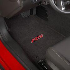 Chevy Camaro RS 4 Pc Carpet Floor Mats Official logo -Black  32oz Fits 2010-2015