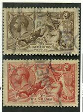 Great Britain Scott #179-180, used.