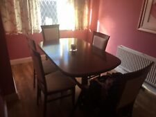 Extending dining table and 6 chairs - Round - Oval With Matching Sideboard