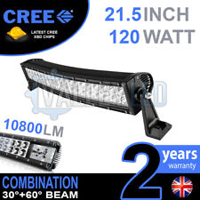 "22 INCH 22"" CURVED COMBO 120W CREE LED LIGHT BAR DEFENDER NEVARA JEEP L200 HILUX"