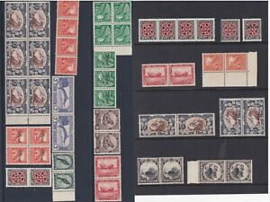 NEW ZEALAND 1935 PICTORIALS MIXED SELECTION WITH OFFICIALS AND BLOCKS