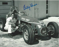 BOBBY UNSER INDY CAR DRIVER SIGNED 8x10 PHOTO INDIANAPOLIS 500 CHAMPION 6 w/COA