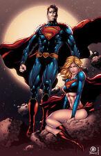 Dan Prado- PradoInkworks Signed Superman and Supergirl Full Color Print