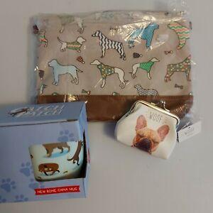 dog gift bundle catch patch mug, over the shoulder bag, coin purse, dog lover