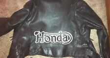 "Honda Motorcycle 14"" synthetic leather b/w back patch. Cafe Racer. NEW.UNIQUE"