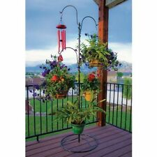 Plant Hanging Basket Tree Planter Stand Flower Pot Holder Indoor Outdoor Garden