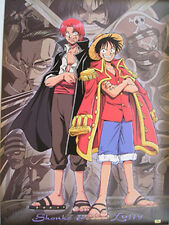 One Piece Shanks and Luffy Poster Paper Anime MINT