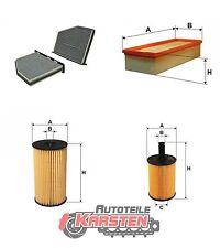 Set L: Ölfilter+Innenraumfilter+Luftfilter+Kraftstofffilter Filterset AUDI SEAT