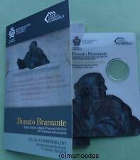 San Marino 2 Euro Münzkarte 2014 Donato Bramante Off. Coincard Folder leer empty