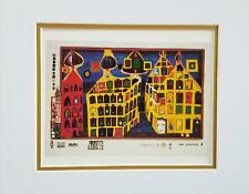 Friedensreich Hundertwasser It Hurts to Wait With Love Matted offset Litho 1986