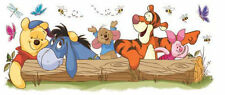 WINNIE THE POOH wall stickers MURAL Disney Tigger Eeyore Piglet log party decor