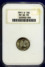 1941-D Ngc Ms66 Full Band Mercury Dime! #9968