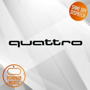 X2 QUATTRO Sticker DECAL- A3 A4 A5 A6 AUDI  VINYL RS3 RS4 RS5
