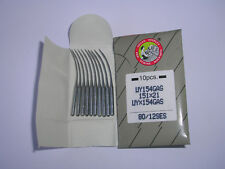 10 WILCOX & GIBBS/UNION SPECIAL CURVED OVERLOCK MACHINE NEEDLES UY154 GAS 151x21