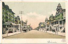 View on Virginia Avenue in Atlantic City Nj Postcard 1907