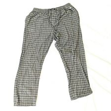 Ralph Lauren Pajama Pants Mens Size XL Vintage Tattersall Check Pattern Gray
