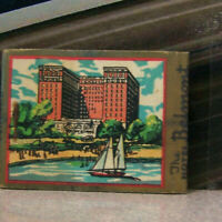 Vintage Matchbook Cover Y6 Chicago Illinois Hotel Belmont Sailboat Lovely Boat