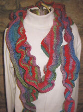 Crochet Pattern ~ Ladies COLORFUL RUFFLE SCARF ~ Instructions