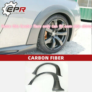 For Nissan R35 GTR 2pcs Carbon WD Style Rear Fender Flares Extension addon Trim