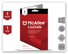 McAfee Livesafe 2020 1 DEVICE PC/MAC AND 1YEAR FULL VERSION WORLDWIDE NOT 2019