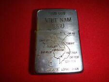 Vietnam War Year 1960 Zippo Lighter SAIGON VIETNAM 1960 And SOUTHEAST ASIA Map