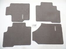 GREY FLOOR MATS OEM NICE FRONT REAR SET 4 TOYOTA YARIS 06-11 SEDAN NO MILES!
