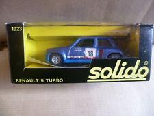 SOLIDO n° 1023 RENAULT 5 turbo tour de Corse 1980 + décalcomanies