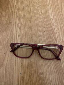 Versace VE3220-5097 Cat Eye Women Red Crystal Frame Genuine Eyeglasses